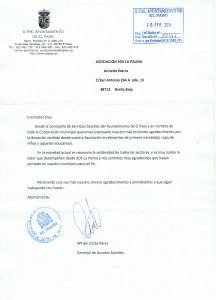 Carta de EL Paso