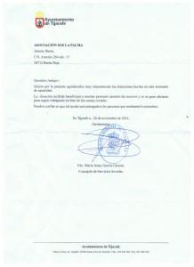 Carta del Ayuntamiento de Tijarafe