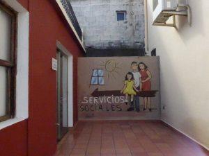Eingang servicios sociales in Puntagorda